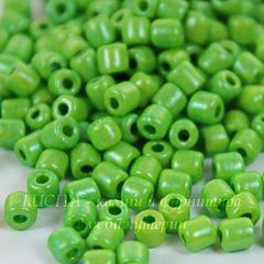 Бисер Preciosa рубка 3,5 мм непрозрачный, зеленый