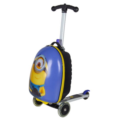 Чемокатик детский чемодан самокат Миньон