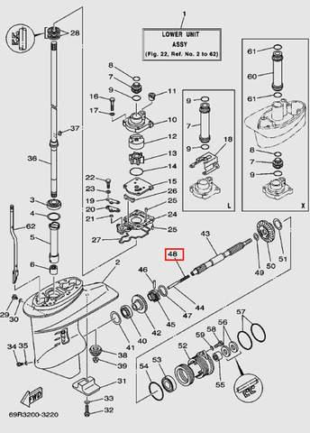 Пружина для лодочного мотора Т30 Sea-PRO (17-48)