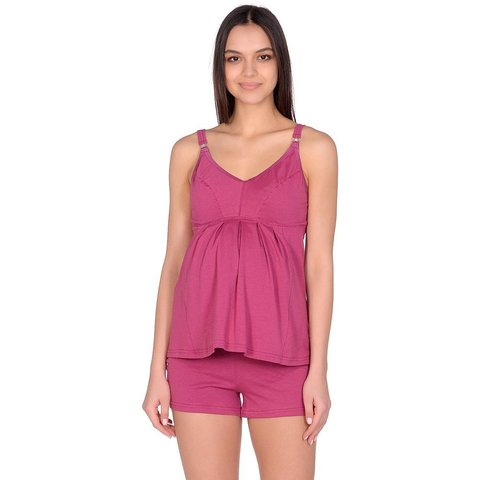 Mamaline. Пижама для беременных и кормящих, бордовый