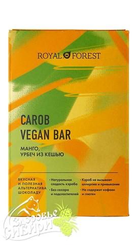 Шоколад из кэроба Royal Forest (Манго, урбеч из кешью), 50 г