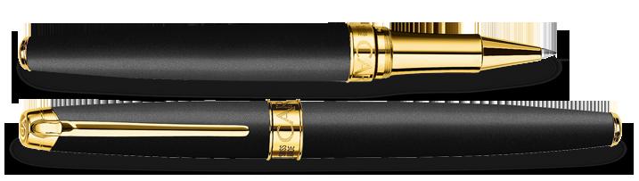 Carandache Leman - Black Matte GP, ручка-роллер, F