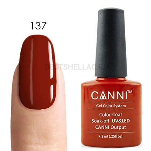 Canni Canni, Гель-лак 137, 7,3 мл 137.jpg