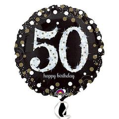 А Круг HB Sparkling Birthday 50 gold S55, 18