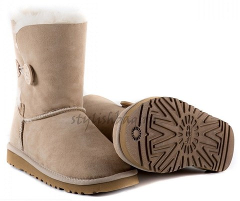 Женские угги UGG Women's Bailey Button Sand