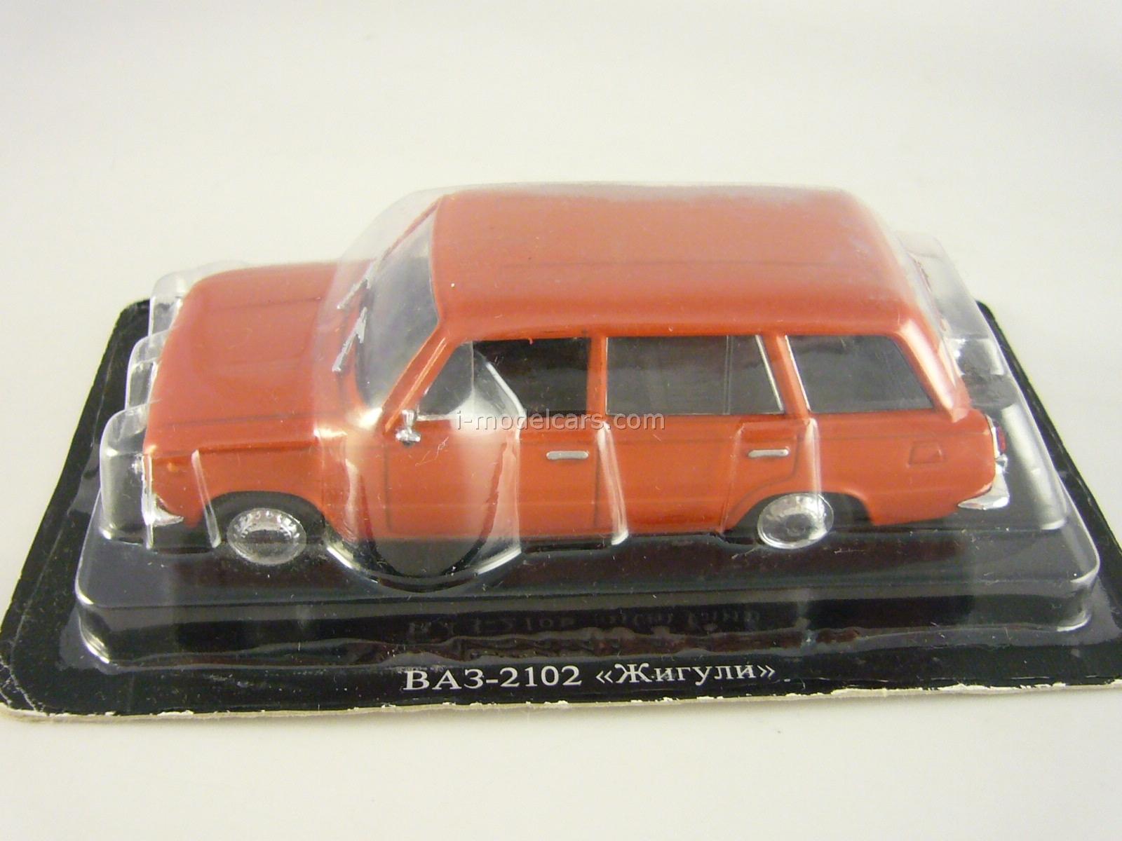 VAZ-2102 Lada red 1:43 DeAgostini Auto Legends USSR #14