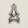 Винтажный декоративный элемент - коннектор Art Deco (1-2) 14х8 мм (оксид серебра)