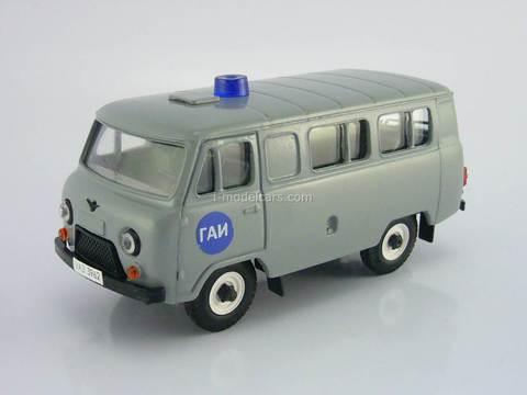 UAZ-3962 bus GAI Police gray Agat Mossar Tantal 1:43
