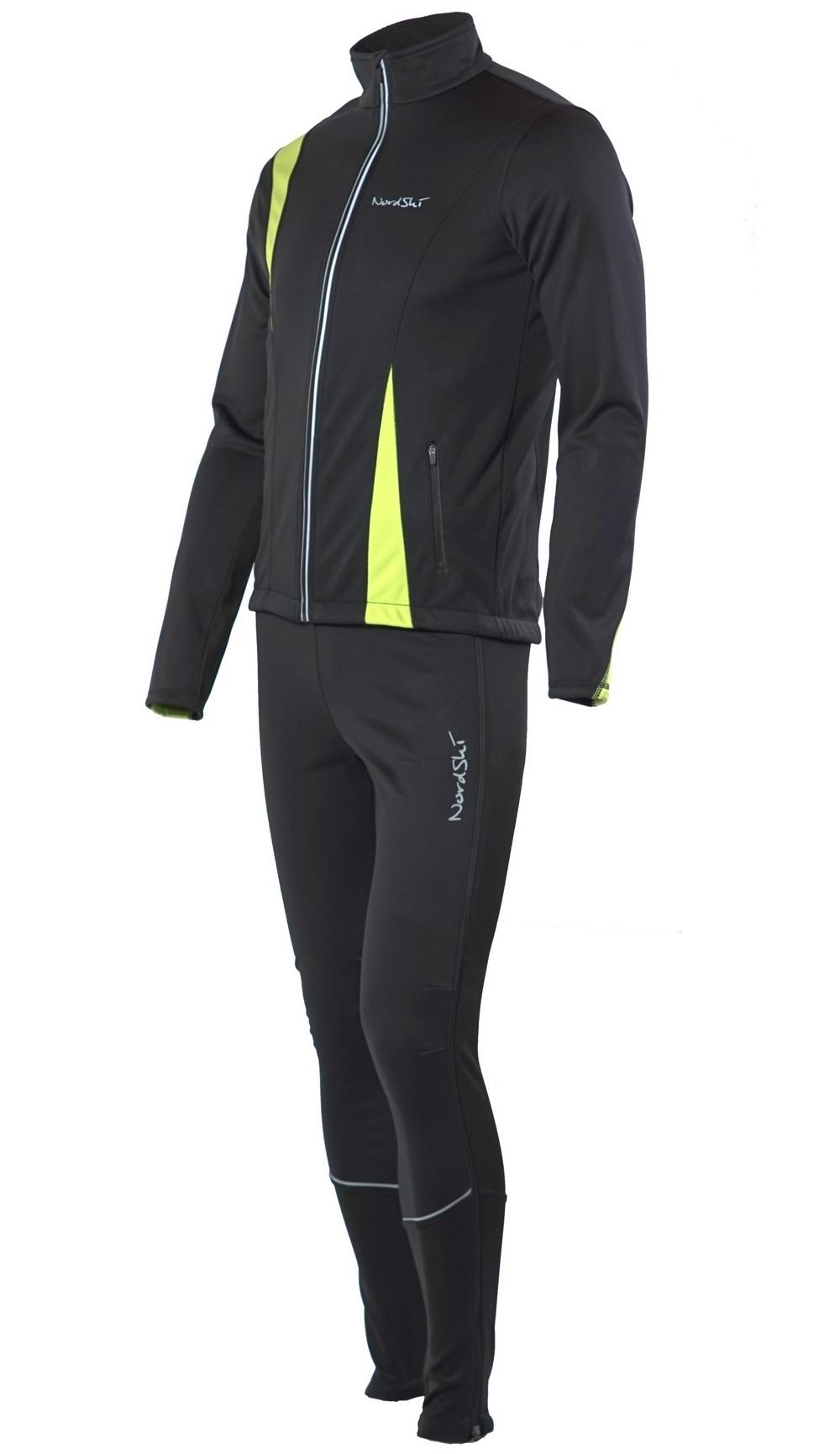 Детский разминочный лыжный костюм Nordski Active NSJ324180 лайм