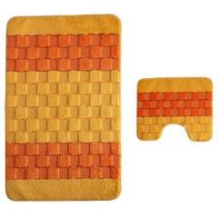 Набор ковриков для ванной BANYOLIN SILVER 60х100 см ворс, желтый