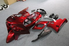 Комплект пластика для мотоцикла Kawasaki ZZR400/600 93-07 Красный
