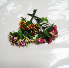 Веточки декоративные 10 см - миниягодки 5 мм.
