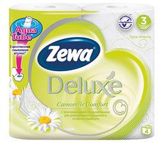 Туалетная бумага Zewa Deluxe ромашка 3-х слойная 4 шт