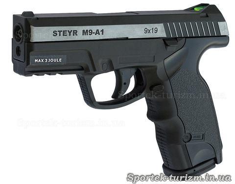 Пистолет ASG Steyr M9-A1 4,5мм пневматический, газобаллонный, с никелевой вставкой