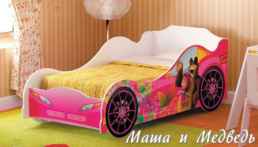 Кровать-машина для девочки Омега 12 ЛДСП №2
