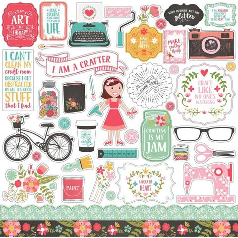 Стикеры 30х30см - I Heart Crafting