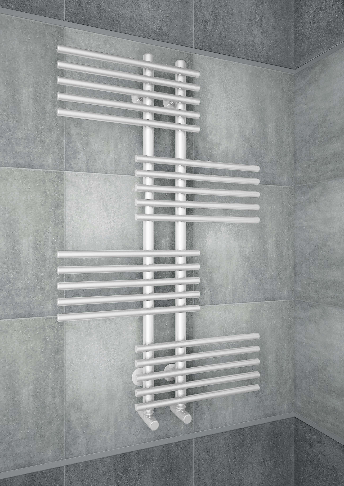 Europa E-cтильный электрический дизайн-полотенцесушитель белого цвета.