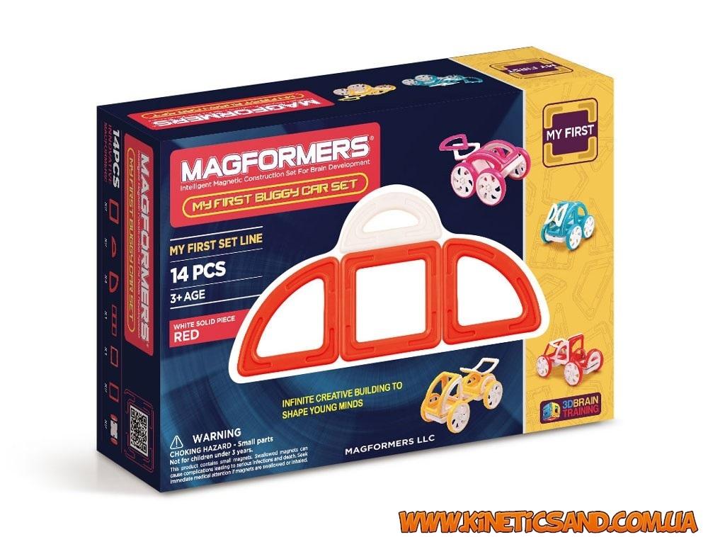 Magformers Мой первый автомобиль Красный. Магформерс магнитный конструктор