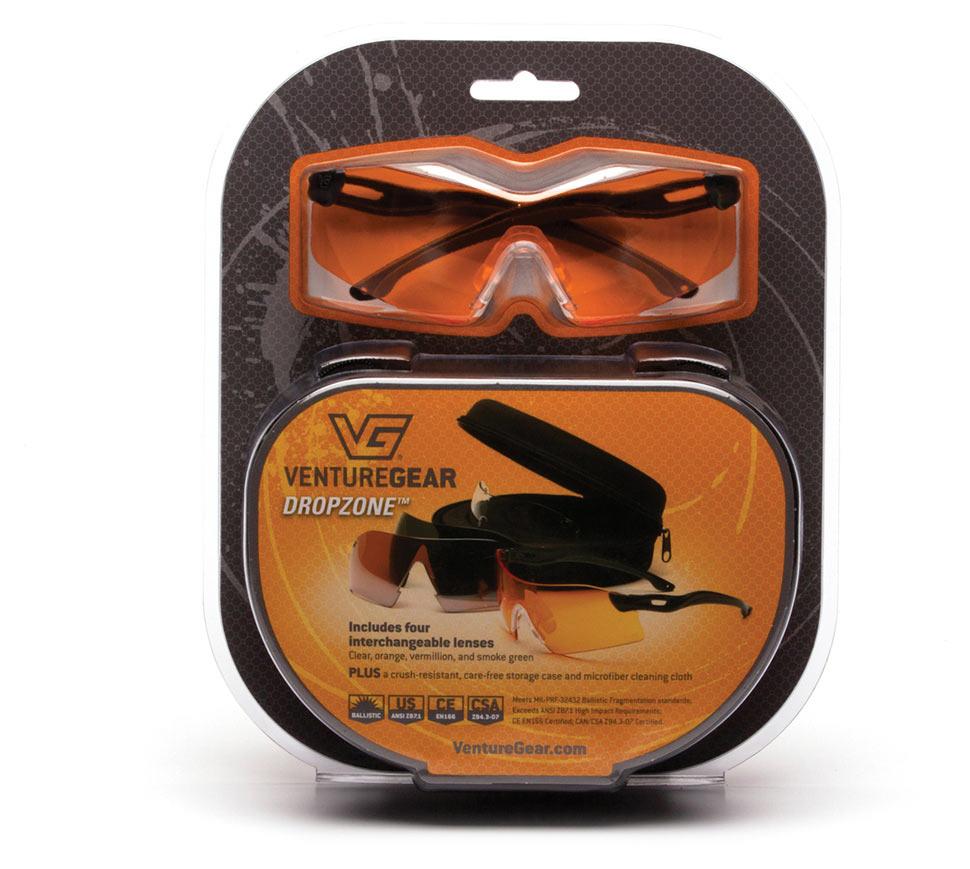 Очки баллистические стрелковые Pyramex Dropzone VGSB88KIT 4 сменные линзы