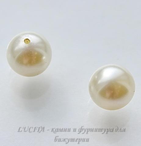 5818 Хрустальный жемчуг Сваровски Crystal Cream круглый с несквозным отверстием 8 мм, 2 штуки