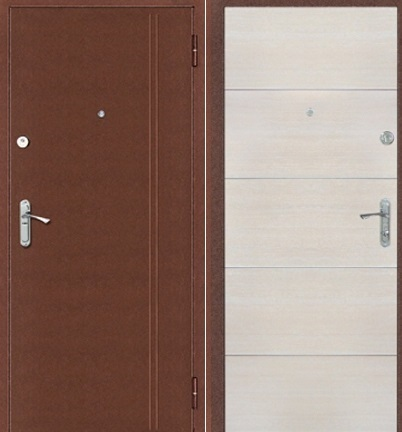Входная дверь Витязь, Добрыня. Медь / Капучино