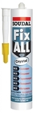 Клей-герметик гибридный Soudal Fix All Crystal (12шт/кор)