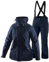 Тёплый горнолыжный костюм Beata Zip-In Jacket Cleary navy женский