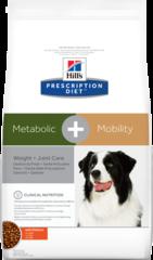 Ветеринарный корм для собак контроль веса/здоровье суставов Hill`s Prescription Diet Metabolic + Mobility