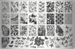 Плитки для стемпинга Lesly - Butterflies