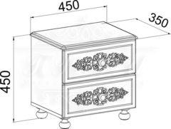 АС-04 Тумба прикроватная с ящиками Ассоль