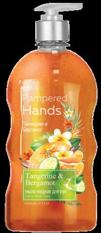 Фабрика Ромакс Pampered Hands Мыло жидкое для рук Танжерин и бергамот 650г