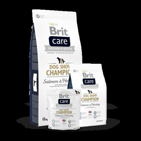 Brit Care Dog Show Champion Сухой корм для выставочных собак Лосось, Сельдь и Рис