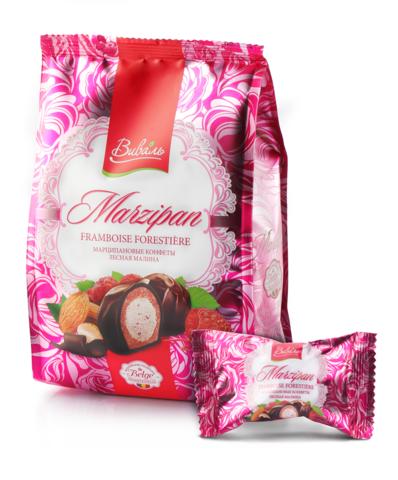 ВИВАЛЬ Марципановые конфеты лесная малина 140г