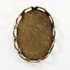 Сеттинг - основа для камеи или кабошона 14х10 мм (оксид латуни)