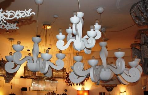 replica  Botero s pendant lamp 6 lights (white)