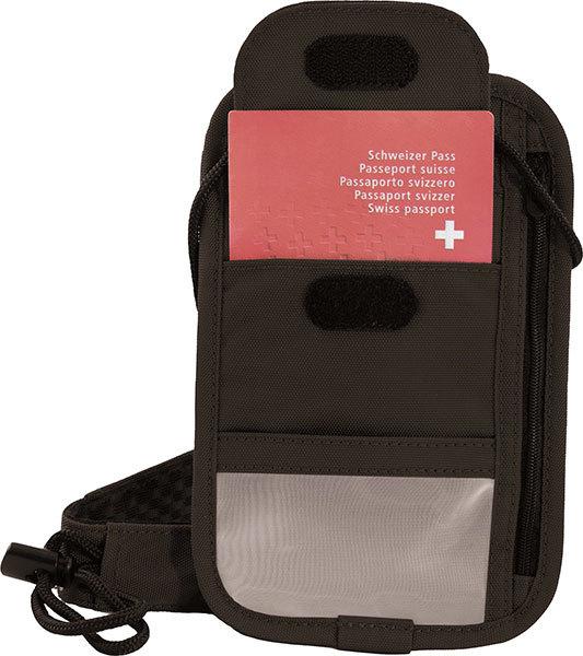 Кошелек на шею Victorinox Lifestyle Accessories 4.0 Boarding Pouch, чёрный, полиэстер, 13x1x20