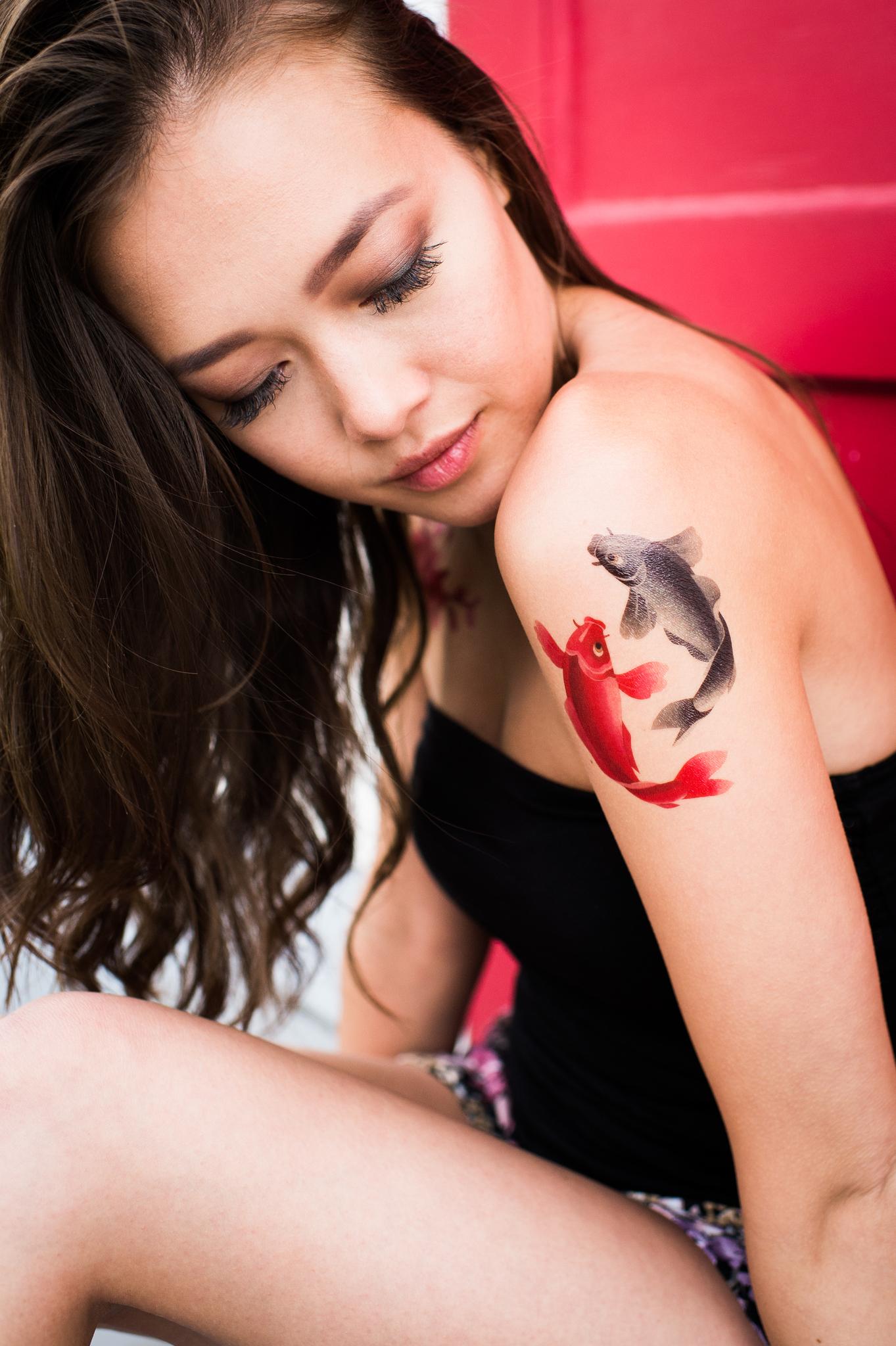 Переводная татуировка Tao