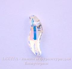 6525 Подвеска Сваровски Wave Crystal AB (19 мм)