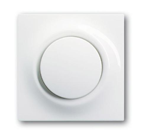 Выключатель/переключатель одноклавишный с подсветкой. Цвет Альпийский белый. ABB impuls. 1753-0-0007+1012-0-2109