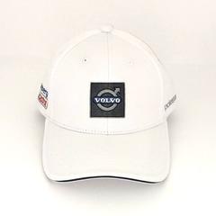 Кепка с вышитым логотипом Вольво (Бейсболка Volvo) белая