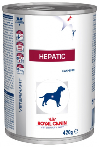 Royal Canin Hepatic консервы для собак при заболеваниях печени 420г