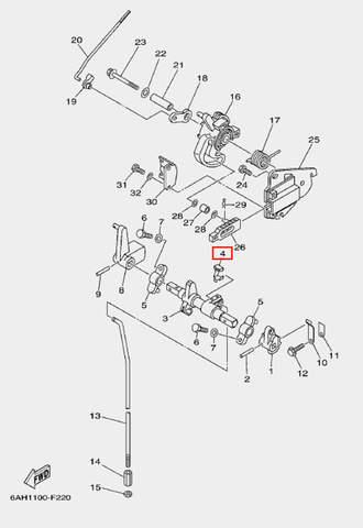 Наконечник кабеля2 для лодочного мотора F20 Sea-PRO (18-4)