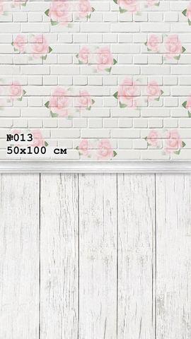 Фотофон виниловый «Цветочная стена» №013