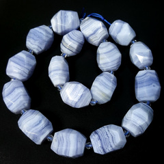 Бусина сапфирин AA кружевной многогранник 19х14 мм 1 бусина