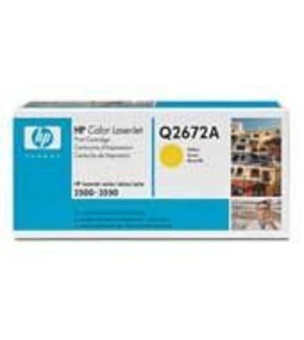 Картридж HP Q2672A yellow - тонер-картридж для HP Color LaserJet 3500, 3500n, 3550, 3550n (желтый 4000 стр.)