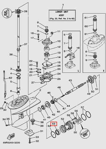 Подшипник 600603 для лодочного мотора Т30 Sea-PRO (17-53)