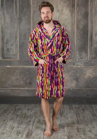 Яркий мужской махровый халат