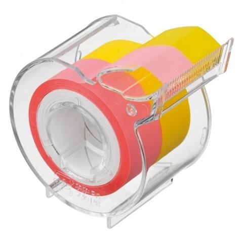 Диспенсер Yamato Memoc Roll Tape Film Type 15 мм - Pastel Pink/Yellow