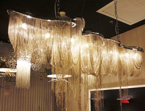 chandelier TERZANI Atlantis ( gold + 200 cm )