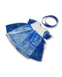Платье из гипюра - Синий. Одежда для кукол, пупсов и мягких игрушек.